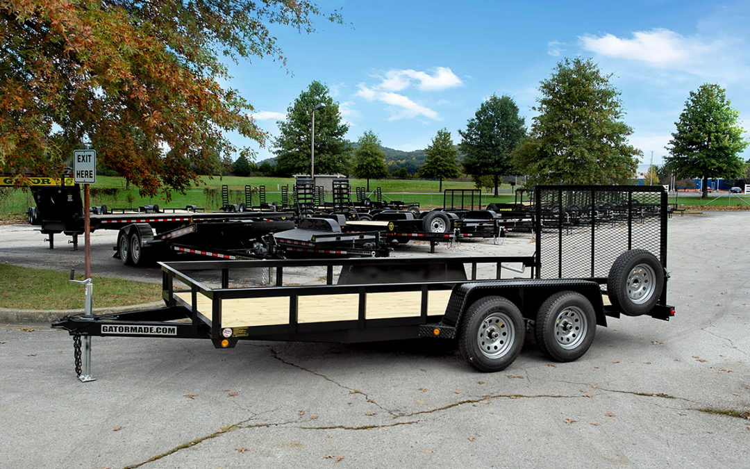 Utility Trailer 6 ft 10 inch x 16 ft with Rear Gate